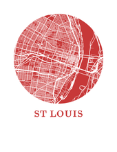 St Louis Map Print - City Map Poster