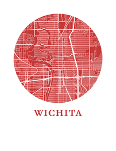 Wichita Map Print - City Map Poster