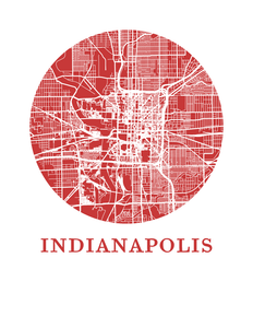 Indianapolis Map Print - City Map Poster