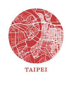Taipei Map Print - City Map Poster