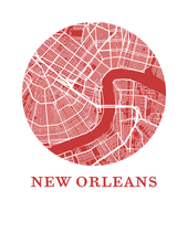 New Orleans Map Print - City Map Poster