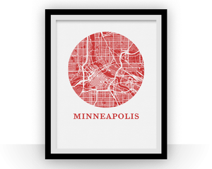Minneapolis Map Print - City Map Poster