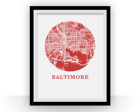 Baltimore Map Print - City Map Poster