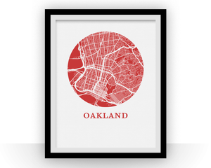Oakland Map Print - City Map Poster