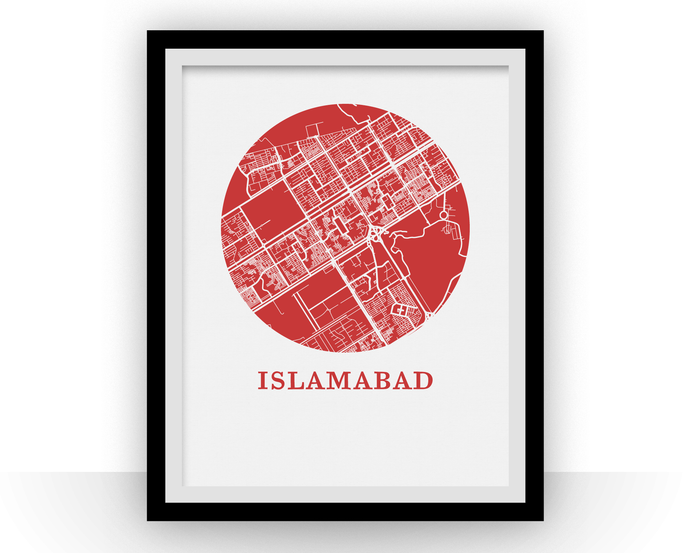 Islamabad Map Print - City Map Poster