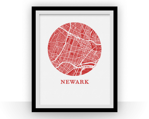 Newark Map Print - City Map Poster