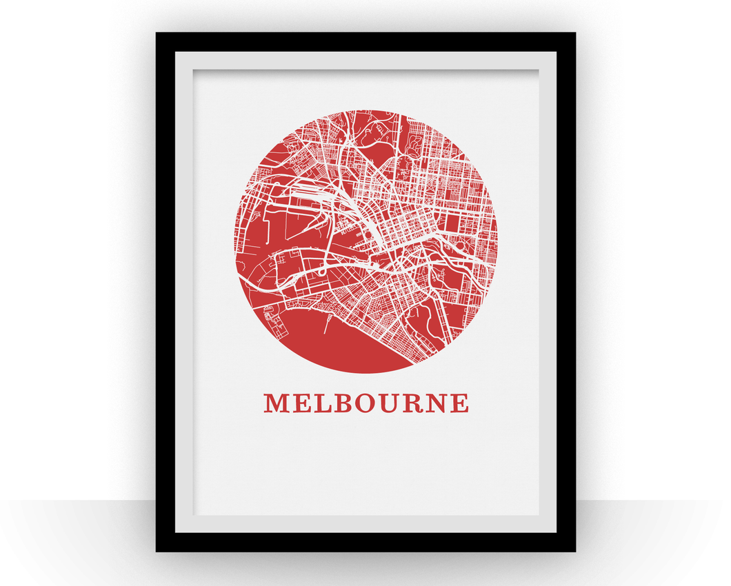 Melbourne Map Print - City Map Poster