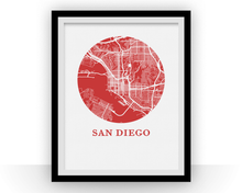 San Diego Map Print - City Map Poster