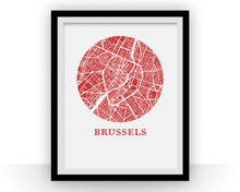 Bruxelles Map Print - City Map Poster