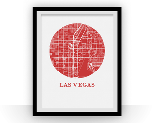 Las Vegas Map Print - City Map Poster