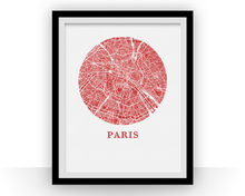 Paris Map Print - City Map Poster