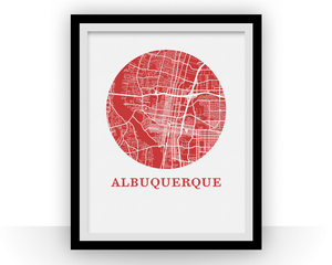 Albuquerque Map Print - City Map Poster