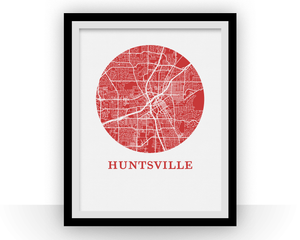 Huntsville Map Print - City Map Poster