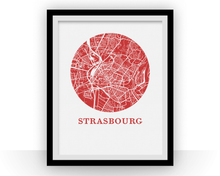 Strasbourg Map Print - City Map Poster