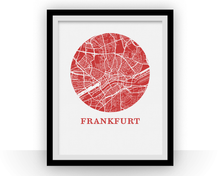 Frankfurt Map Print - City Map Poster
