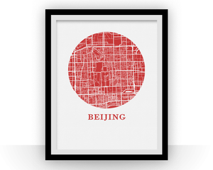Beijing Map Print - City Map Poster