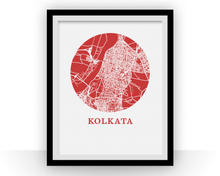 Kolkata Map Print - City Map Poster