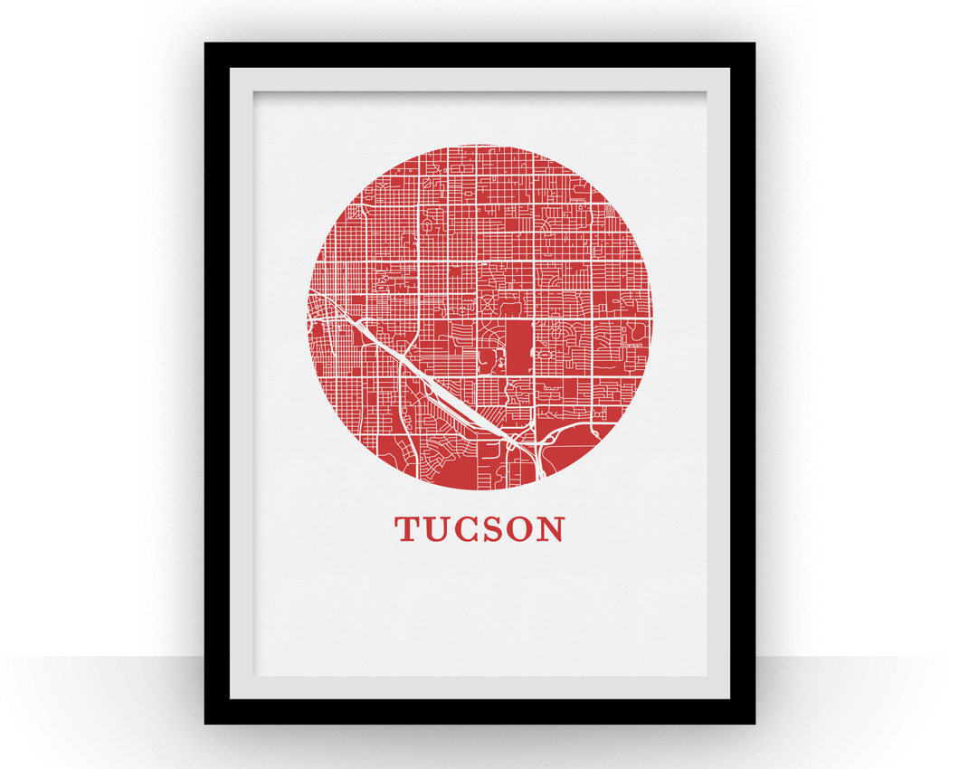 Tucson Map Print - City Map Poster