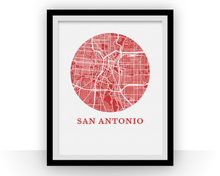 San Antonio Map Print - City Map Poster