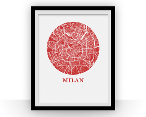 Milan Map Print - City Map Poster