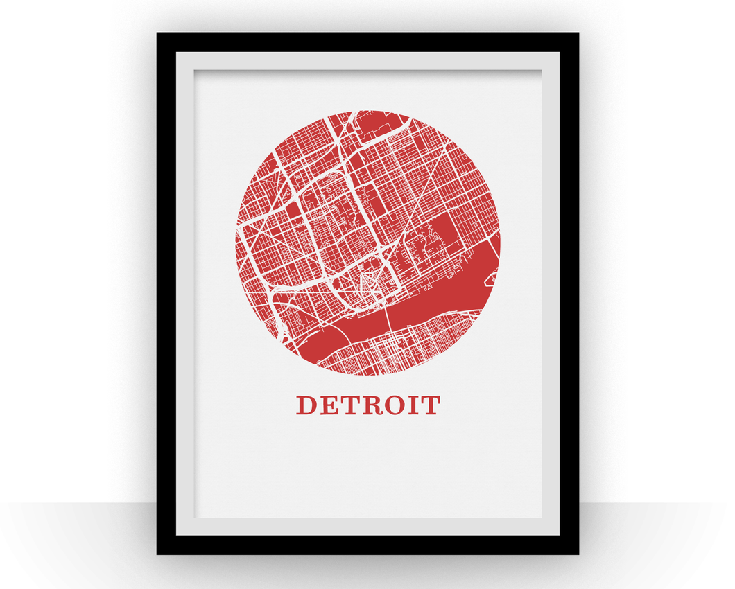 Detroit Map Print - City Map Poster
