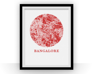 Bangalore Map Print - City Map Poster