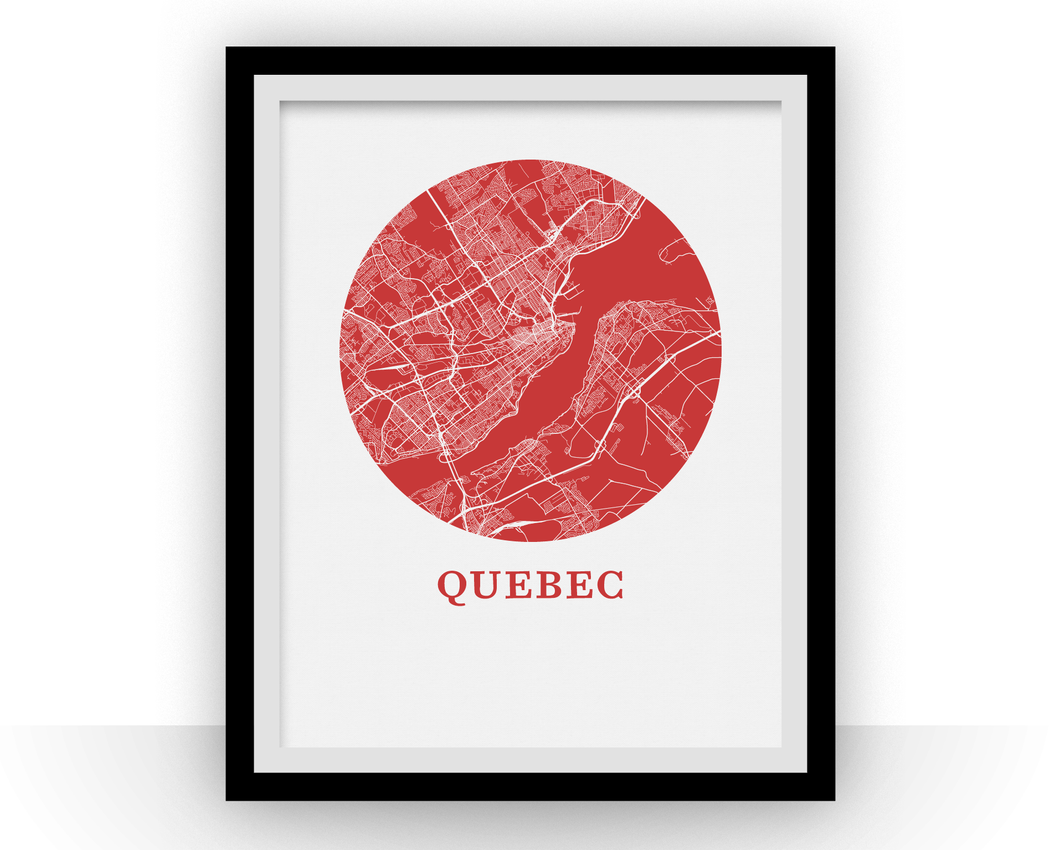Quebec Map Print - City Map Poster