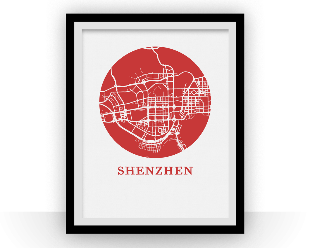 Shenzhen Map Print - City Map Poster
