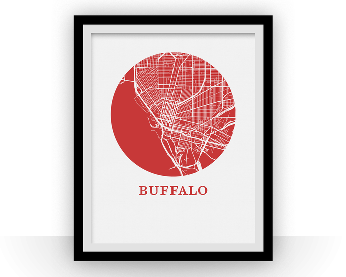 Buffalo Map Print - City Map Poster