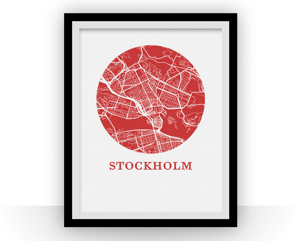 Stockholm Map Print - City Map Poster