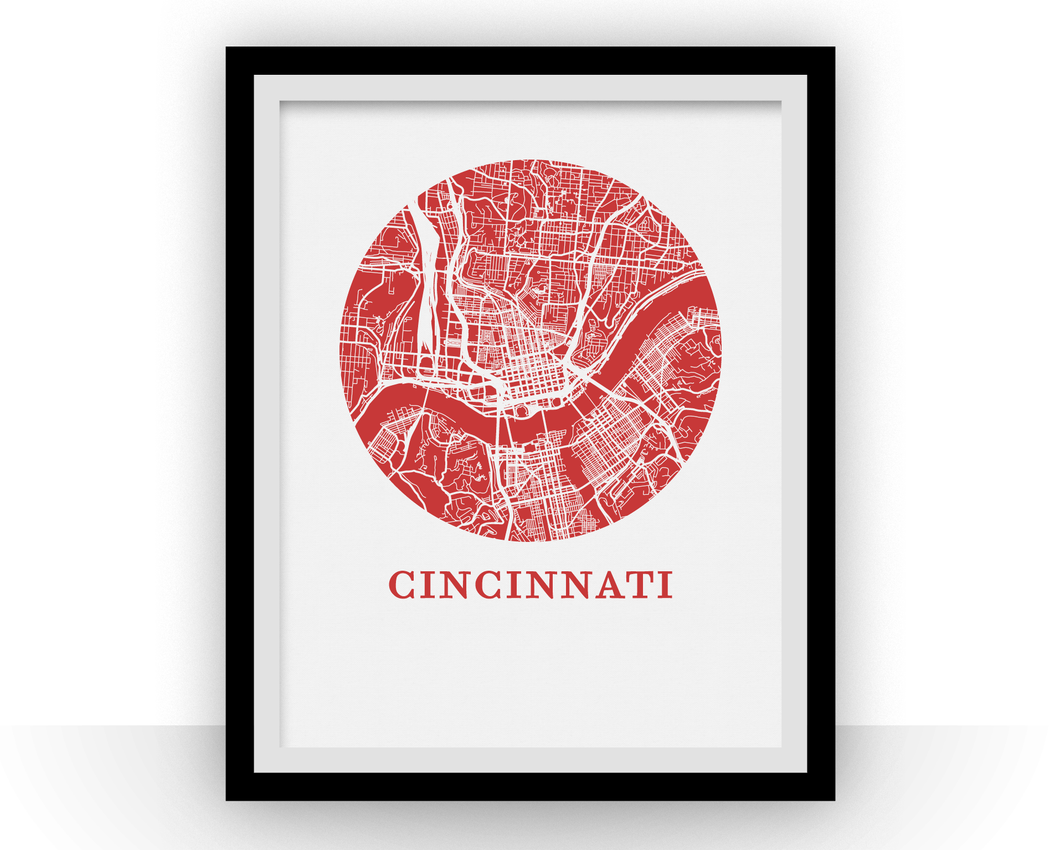 Cincinnati Map Print - City Map Poster