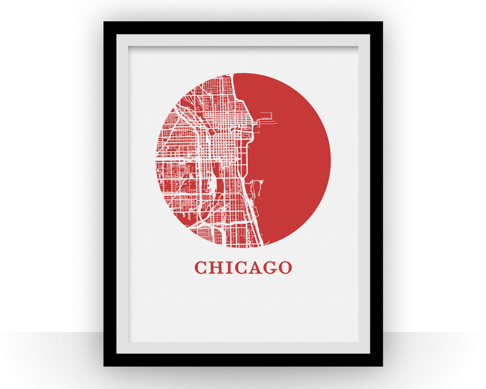 Chicago Map Print - City Map Poster