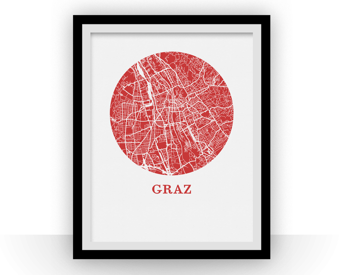 Graz Map Print - City Map Poster