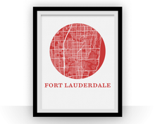 Fort Lautherdale Map Print - City Map Poster
