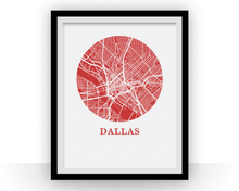 Dallas Map Print - City Map Poster