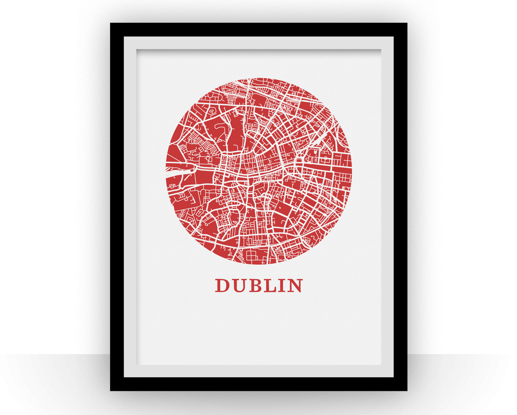 Dublin Map Print - City Map Poster