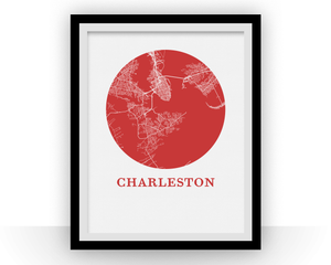 Charleston Map Print - City Map Poster