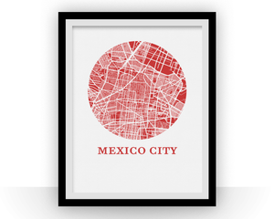 Mexico City Map Print - City Map Poster