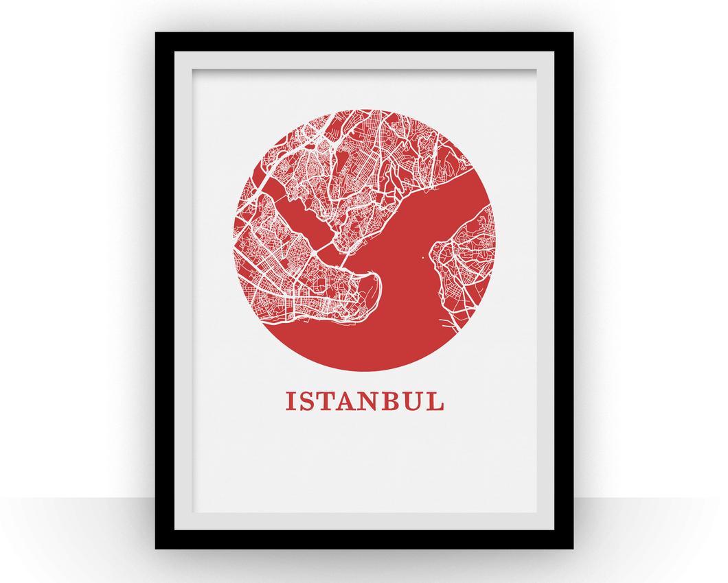 Istanbul Map Print - City Map Poster