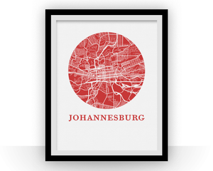 Johannesburg Map Print - City Map Poster