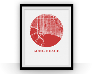 Long Beach Map Print - City Map Poster