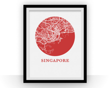 Singapore Map Print - City Map Poster