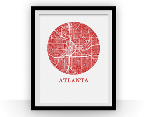 Atlanta Map Print - City Map Poster
