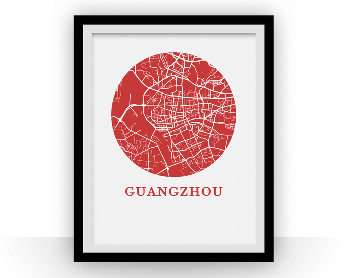 Guangzhou Map Print - City Map Poster