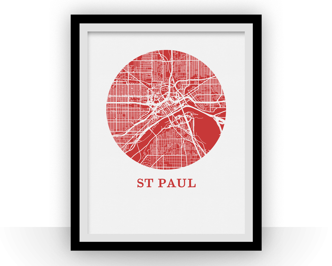 St Paul Map Print - City Map Poster