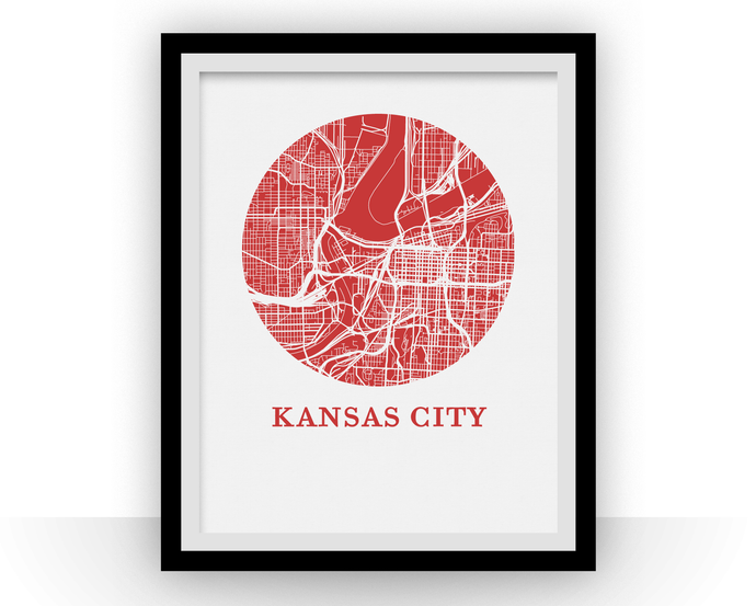 Kansas City Map Print - City Map Poster