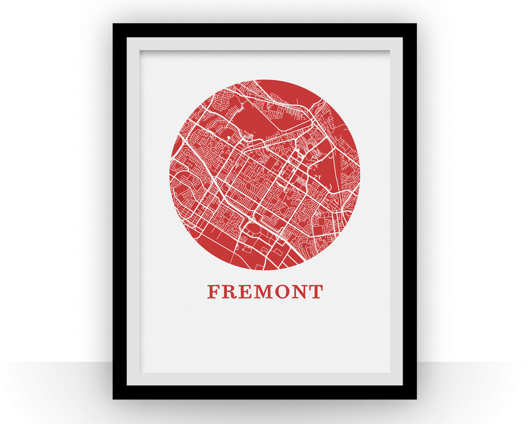 Fremont Map Print - City Map Poster