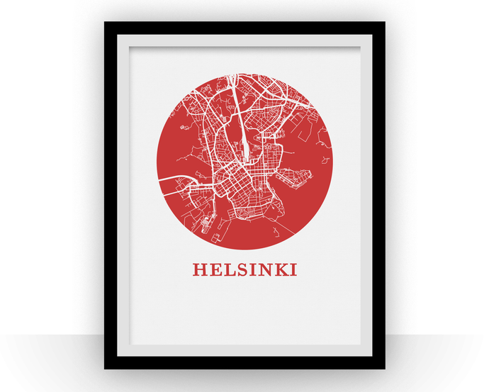 Helsinki Map Print - City Map Poster