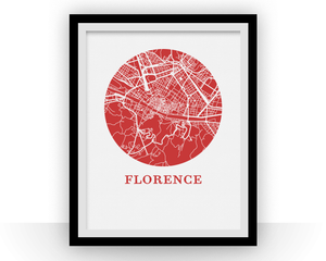 Florence Map Print - City Map Poster