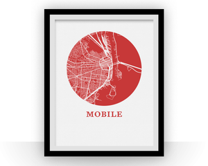 Mobile Map Print - City Map Poster